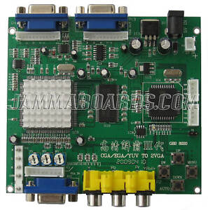 GBS-8220 RGB/CGA/EGA/YUV to VGA ARCADE VIDEO CONVERTER BOARD - Latest Software!