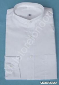 Shirt-Grandad-collar-white-with-pocket-Long-Sleeve-R504