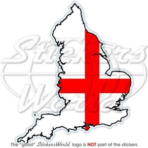 ENGLAND-St-George-Cross-Map-Flag-UK-English-Vinyl-Bumper-Sticker-Decal
