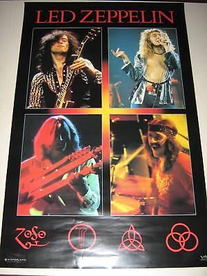 "LED ZEPPELIN /  Poster #5036  Rare original - New condition / 22 1/4 x 34 1/2"""