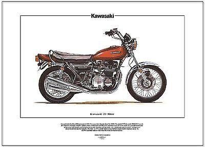 KAWASAKI Z1  Superbike Fine Art Print - 900cc Z1000 Z-1