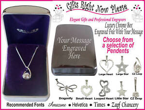 Engraved-Chrome-Box-Silver-Necklace-Mum-Christmas-Gift