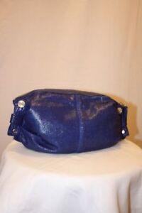 New-MAX-AZRIA-LEATHER-AND-OTHER-VIOLET-HANDBAG