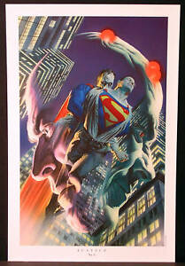 Superman/Braniac/Bizarro Fine Art Print by Alex Ross