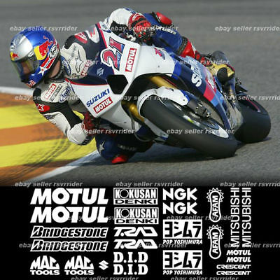 Motogp Decal Sponsor Kit For Suzuki Gsxr Models