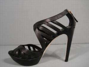Fendi-Black-Cut-Out-Leather-Platform-Sandals-Authentic-Booties-38-7-5-Discount