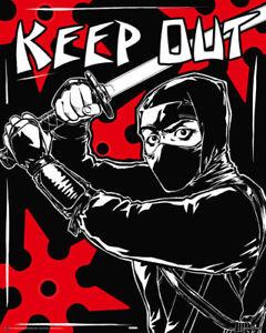 Poster-KEEP-OUT-NINJA-40x50cm-NEU-z160