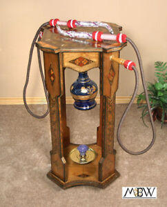 Syrian-Mosaic-Argeela-Hookah-Hooka-Waterpipe-Accent-Occasional-Side-End-Table