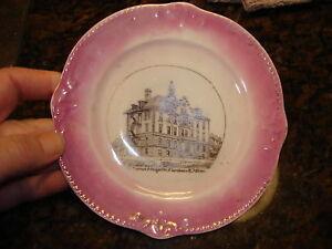 Antique-Souvenir-Plate-LUCAS-HOSPITAL-FARIBAULT-MN-Ger