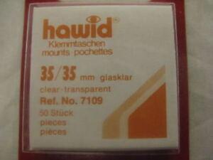 HAWID-35-35mm-FRANCOBOLLO-Mounts-50-pezzi-trasparente-GB-quadrato-forniture