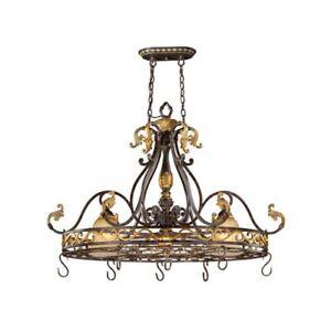 New 2 Light Pot Rack Island Pendant Lighting Bronze   eBay