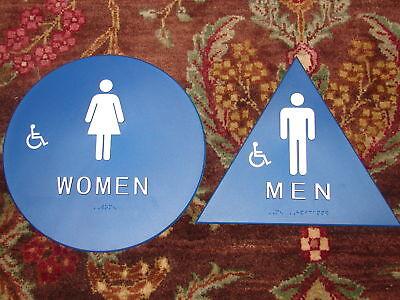 2-Mens-Womens-Handicap-Braille-Restroom-Signs-Title-24-California-Compliant