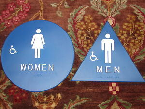 2-Mens-Womens-Handicap-Braille-Restroom-Signs-Title-24-California-Compliant