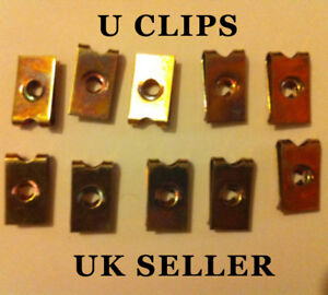 Metal-Zinc-Plated-U-Clips-Screw-Size-No-8-10-Pieces