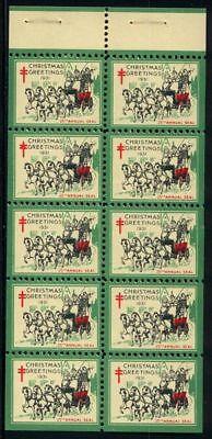 1931 Christmas Seals Booklet Pane MNH