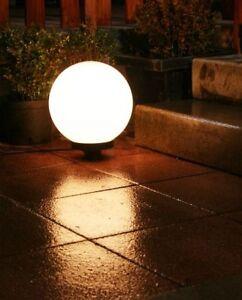 lampe de jardin boule lumineuse eclairage ext. 30cm 465 | eBay