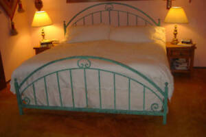 New wrought iron custom hand forged allen bed frame - Reasons choose wrought iron bed ...