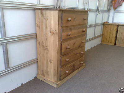 Pine Factory Aylesbury Handmade Assembled Chest Of 5 Drawers No Flat Packs