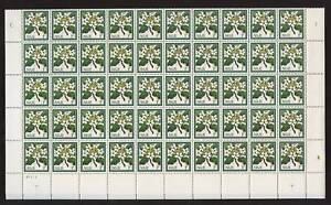 NIUE-1969-FLOWERS-1-2c-PUA-MINT-SHEET-of-100-stamps