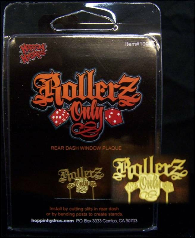 Hoppin Hydros 1/24 1/25 Scale Lowrider Mini Model Plaque Rollerz Only Car Club