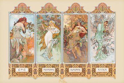 Mucha - Brand New French Art Poster - 4 Four Seasons