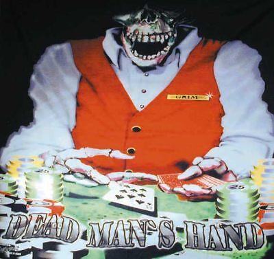 Dead Mans Poker Wall Banner Super High Color Wb12 Skull Skeleton Gambling Chips