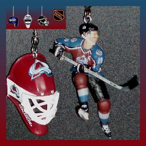 NHL-HOCKEY-COLORADO-AVALANCHE-CEILING-FAN-PULLS-SET-CHOICE-OF-FIGURES-amp-MASK