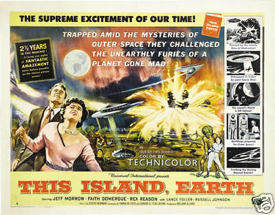 This island Earth vintage Sci-fi movie poster print