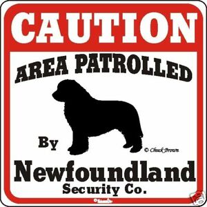 Newfoundland Caution Dog Sign