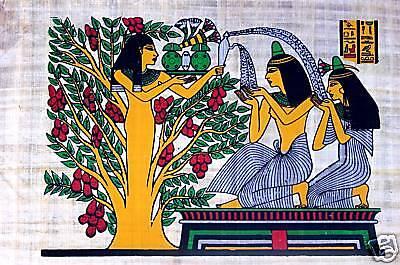 Ägypten Papyrus-Bild 30 x 40 Wasser des Lebens