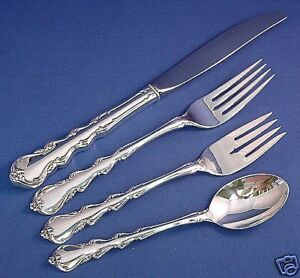 ANGELIQUE-INTERNATIONAL STERLING 4 PIECE LUNCH PLACE SETTING