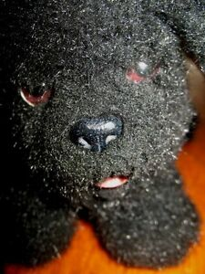 Vintage-Black-Puppy-Dog-Barks-Wags-Battery-Operated-Toy-Stuffed-Animal