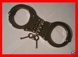 HINGED-STEEL-Handcuffs-POLICE-HEAVY-DUTY-Hand-Cuffs