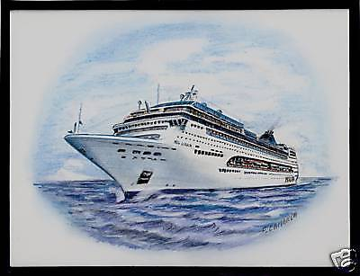Original Art Work     Msc  Lirica   Cruise Ship    Msc