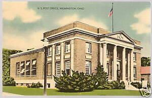 Old-Photo-Postcard-POST-OFFICE-Wilmington-OH-Unused-PC
