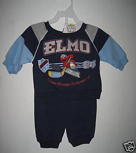 ELMO BOYS OUTFIT LONG SLEEVE SHIRT /& 1 PANTS 12 MONTHS NWT