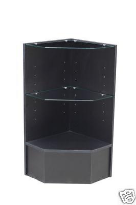 Glass Wood Black Showcase Display Case Store Fixture Knocked Down Pcm-cbk