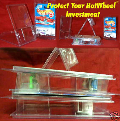 Hot Wheels 250 plastic PROTECTORS stackable clam shells