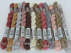 12 SKEINS DMC MEDICIS NEEDLEPOINT TAPESTRY WOOL YARN