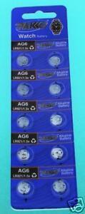 AG6-LR920-371-370-SR920-SR921-SR920SW-Batteries-x-10-Value