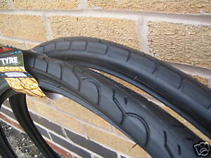 2-Kenda-26-x-1-5-KWEST-Slick-Cycle-Town-Bike-MTB-Tyres-with-2-free-coyote-tubes