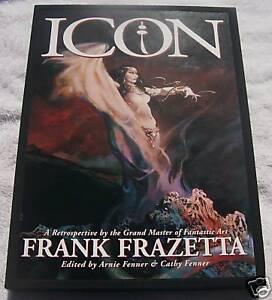 Rare-Icon-Retrospective-by-Frank-Frazetta-Hardcover-HC