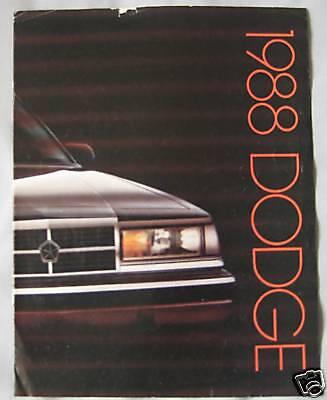 1988 Dodge range (USA) Brochure