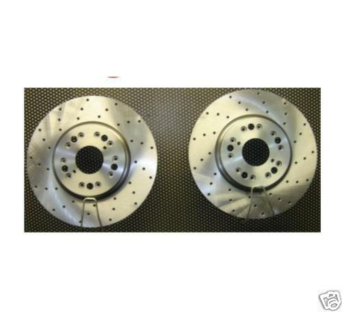 FOR LEXUS SC430 PERFORMANCE DRILLED BRAKE DISCS X 2