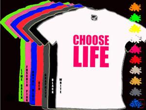 CHOOSE-LIFE-80s-Fancy-Dress-Party-Unisex-T-Shirt-S-XXL