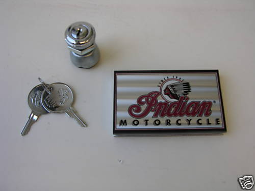 Indian Motorcycle Ignition Switch Set & Keys + Case + Sticker