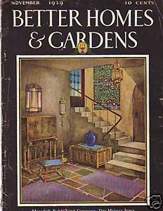 1929 Better Homes Gardens November Semi Tropic Garden Ebay