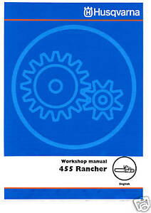 Husqvarna-455-Rancher-Chain-Saw-Service-Manual-Owners-Manual-Parts-List-IPL