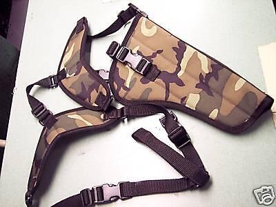 Left Hand Xl Camo Shoulder Holster Ruger Super Blackhawk 7-1/2 Barrel W/scope