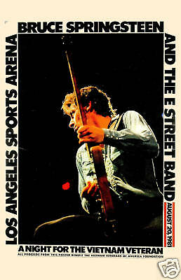 The BOSS: Bruce Springsteen at the Los Angeles Sports Arena Concert Poster 1981